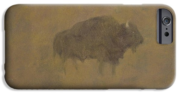 Buffalo In A Sandstorm IPhone 6s Case by Albert Bierstadt