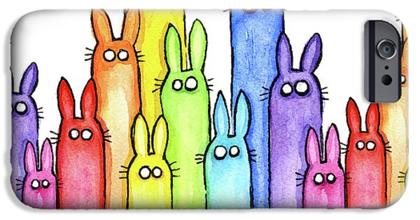 Bunny Rainbow Pattern IPhone 6s Case by Olga Shvartsur