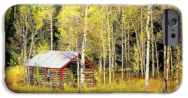 IPhone 6s Case featuring the photograph Cabin In The Golden Woods by Karen Shackles