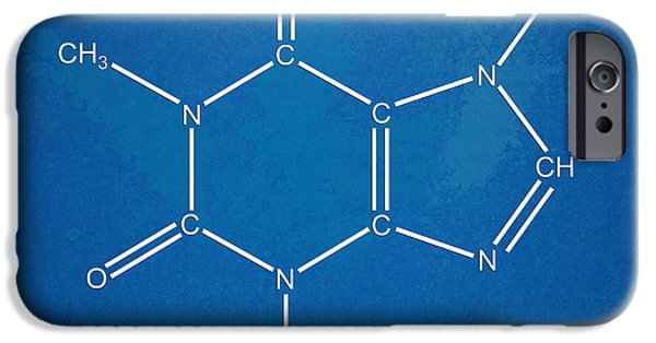 Caffeine Molecular Structure Blueprint IPhone 6s Case by Nikki Marie Smith