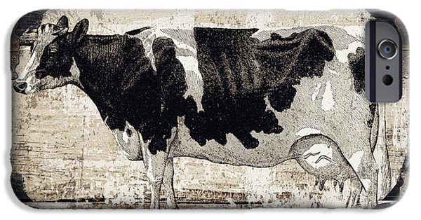 Cow iPhone 6s Case - Campagne I French Cow Farm by Mindy Sommers