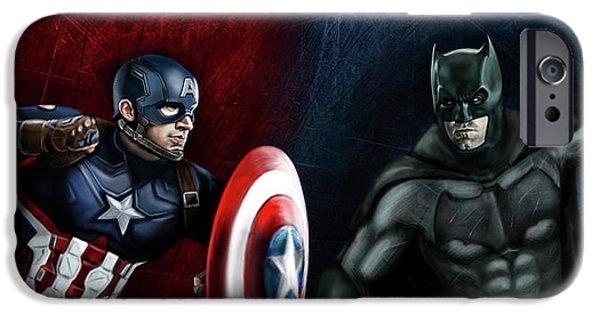 Captain America Vs Batman IPhone 6s Case by Vinny John Usuriello