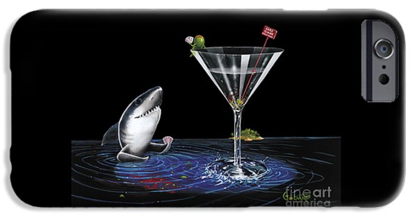 Sharks iPhone 6s Case - Card Shark by Michael Godard