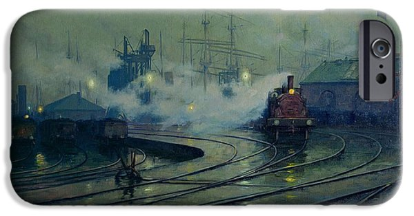Train iPhone 6s Case - Cardiff Docks by Lionel Walden