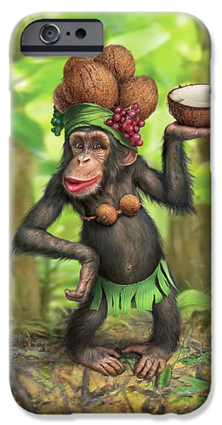 Chimpanzee iPhone 6s Case - Carmen Coconuts by Mark Fredrickson