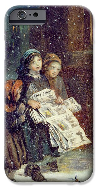 Carols For Sale  IPhone Case by Augustus Edward Mulready