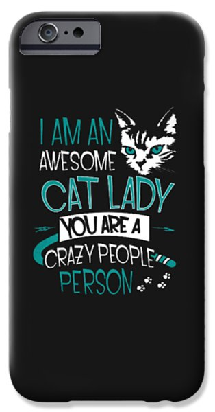 Cat Lady IPhone 6s Case by Jackie Robinson