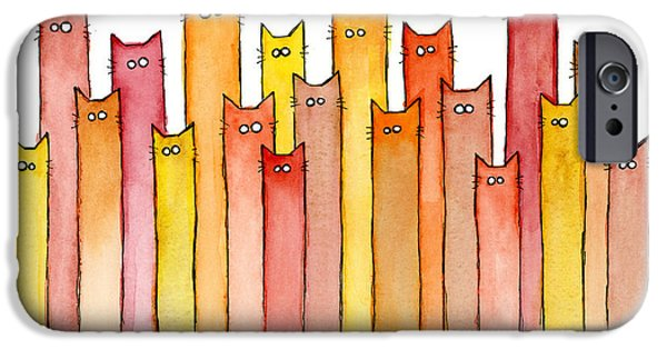 Animals iPhone 6s Case - Cats Autumn Colors by Olga Shvartsur