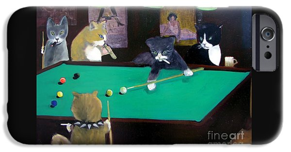Cats Playing Pool IPhone 6s Case