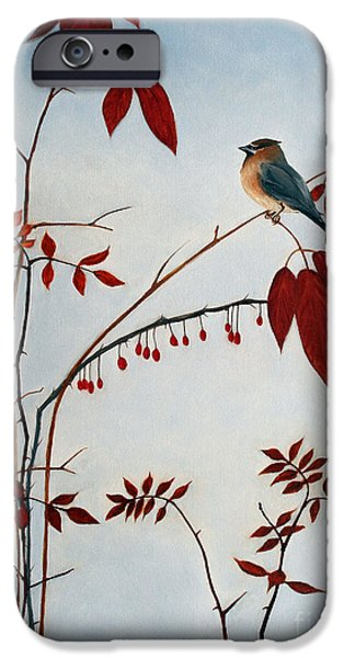 Cedar Waxwing IPhone 6s Case by Laura Tasheiko