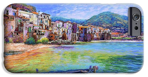 Cruise Ship iPhone 6s Case - Cefalu Sicily Italy by Jane Small