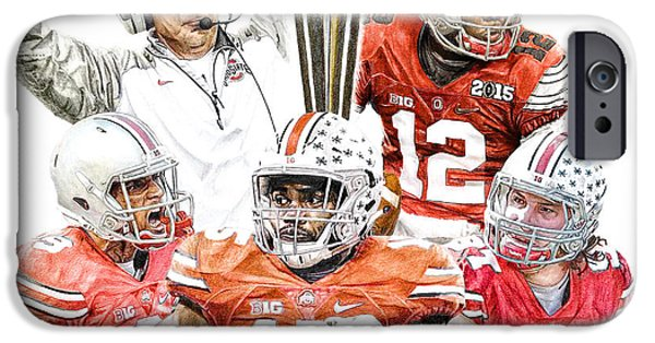 Football iPhone 6s Case - Champions by Bobby Shaw