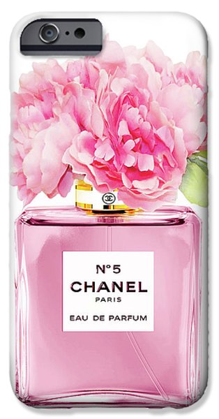 Perfume iPhone 6s Case - Chanel N5 Pink With Flowers by Green Palace