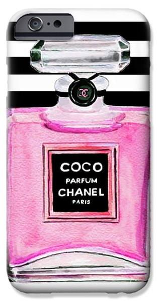 Perfume iPhone 6s Case - Chanel Pink Perfume 1 by Del Art