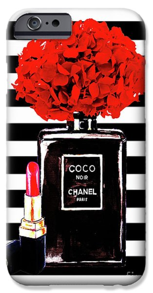 Perfume iPhone 6s Case - Chanel Poster Chanel Print Chanel Perfume Print Chanel With Red Hydragenia 3 by Del Art