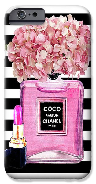 Perfume iPhone 6s Case - Chanel Poster Pink Perfume Hydrangea Print by Del Art