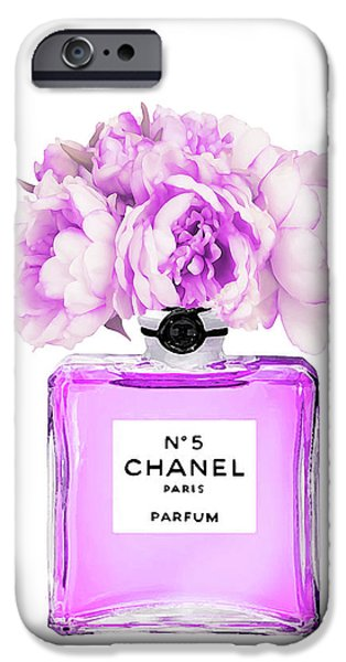 Perfume iPhone 6s Case - Chanel Print Chanel Poster Chanel Peony Flower by Del Art