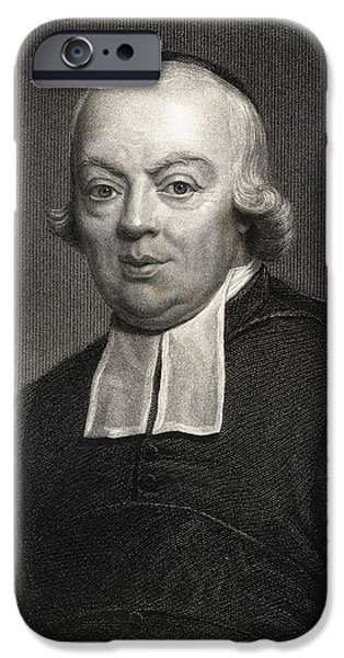 Charles Michel De L Ep E.1712-1789, Abb IPhone Case by Vintage Design Pics