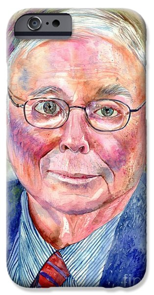 University Of Michigan iPhone 6s Case - Charlie Munger Painting by Suzann's Art