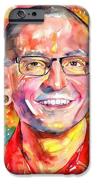 Rolling Stone Magazine iPhone 6s Case - Chester Bennington Watercolor by Suzann's Art