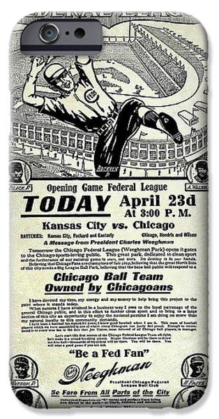 Chicago Cub Poster IPhone 6s Case by Jon Neidert