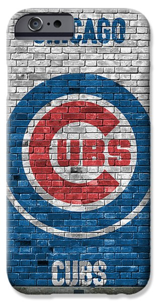 Chicago iPhone 6s Case - Chicago Cubs Brick Wall by Joe Hamilton