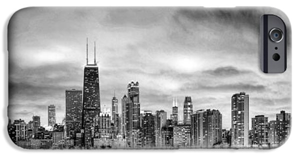 Chicago Gotham City Skyline Black And White Panorama IPhone 6s Case by Christopher Arndt