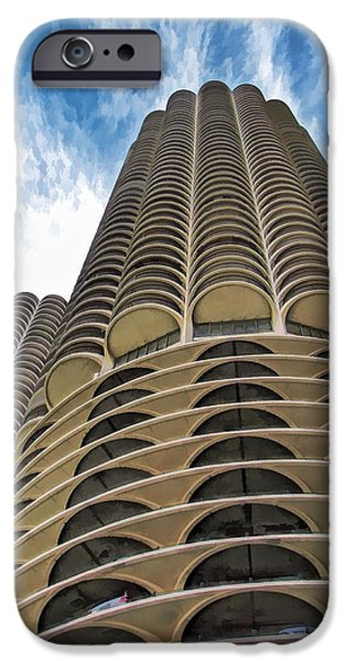 IPhone 6s Case featuring the painting Chicago Marina Towers by Christopher Arndt