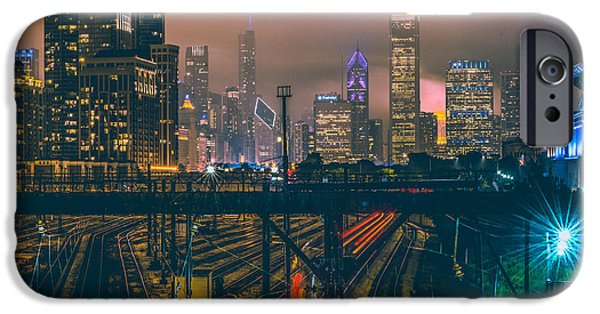 Chicago Night Skyline  IPhone 6s Case by Cory Dewald