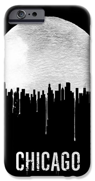 Chicago iPhone 6s Case - Chicago Skyline Black by Naxart Studio