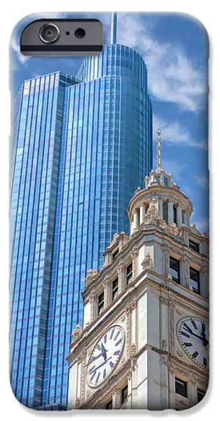 IPhone 6s Case featuring the painting Chicago Trump And Wrigley Towers by Christopher Arndt
