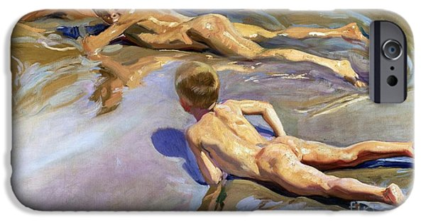 Children On The Beach IPhone Case by Joaquin Sorolla y Bastida