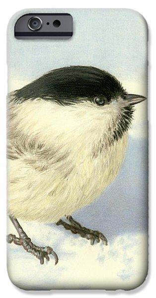 Chickadee iPhone 6s Case - Chilly Chickadee by Sarah Batalka