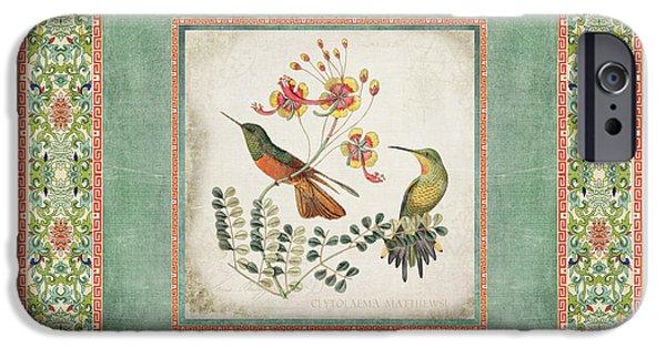 Chinoiserie Vintage Hummingbirds N Flowers 1 IPhone 6s Case