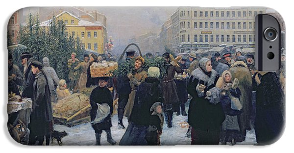 Christmas Fair  IPhone Case by Heinrich Matvejevich Maniser