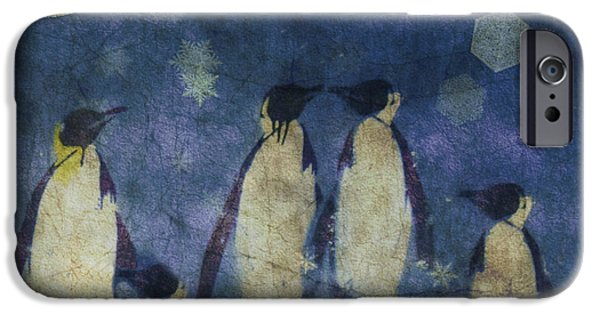Penguin iPhone 6s Case - Christmas Moon  by Paul Lovering