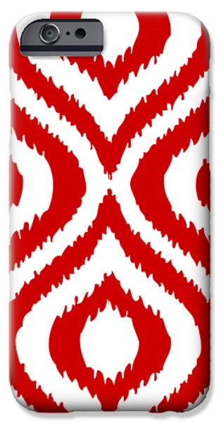 Circle And Oval Ikat In White T02-p0100 IPhone 6s Case by Custom Home Fashions
