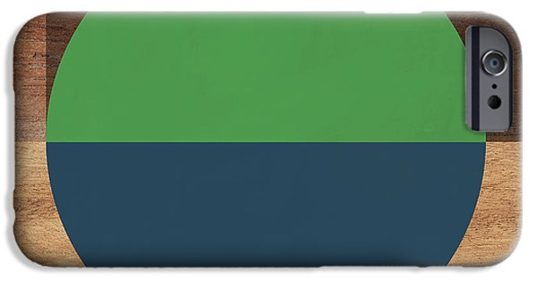 Contemporary iPhone 6s Case - Cirkel Blue And Green- Art By Linda Woods by Linda Woods