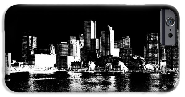 City Of Boston Skyline   IPhone 6s Case by Enki Art