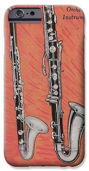 Clarinet And Giant Boehm Bass IPhone 6s Case by American School