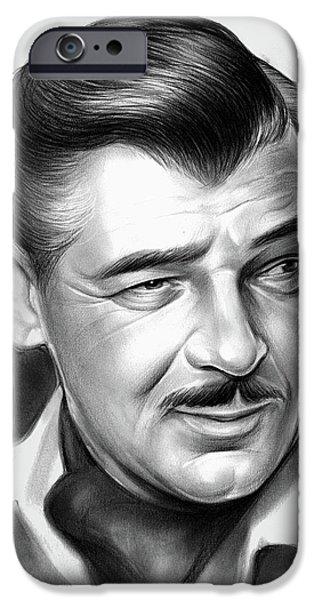 Pencil iPhone 6s Case - Clark Gable 26aug17 by Greg Joens