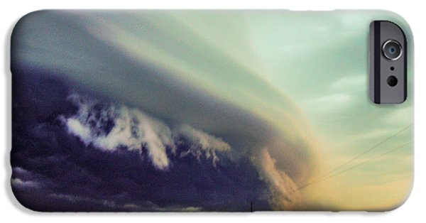 Nebraskasc iPhone 6s Case - Classic Nebraska Shelf Cloud 024 by NebraskaSC