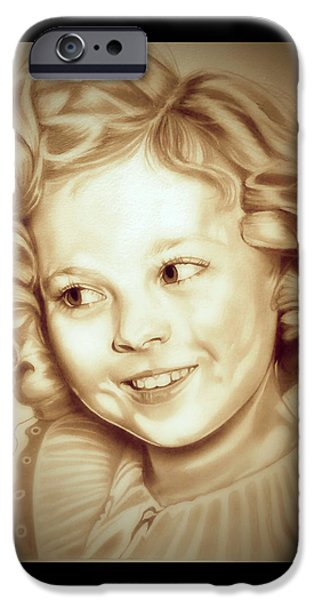 Shirley Temple iPhone 6s Case - Classic Shirley Temple by Fred Larucci