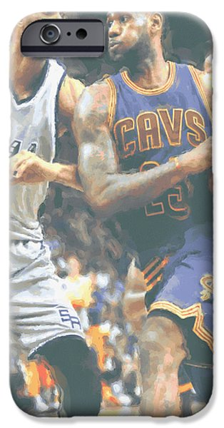Cleveland Cavaliers Lebron James 4 IPhone 6s Case by Joe Hamilton
