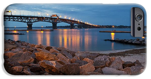 Coleman Bridge At Twilight IPhone Case by Amy Jackson