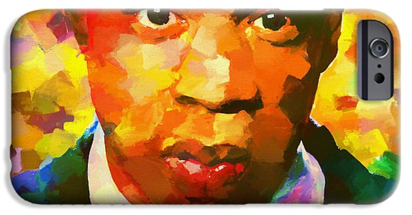 Colorful Jay Z Palette Knife IPhone 6s Case by Dan Sproul