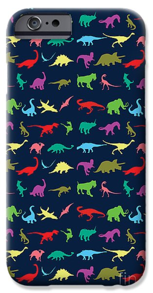 Colorful Mini Dinosaur IPhone 6s Case by Naviblue