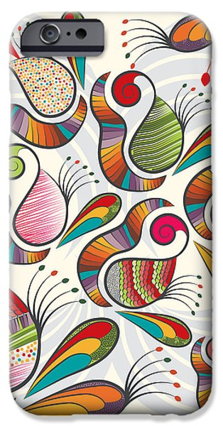 Colorful Paisley Pattern IPhone 6s Case by Famenxt DB