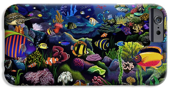 Scuba Diving iPhone 6s Case - Colorful Reef by MGL Meiklejohn Graphics Licensing