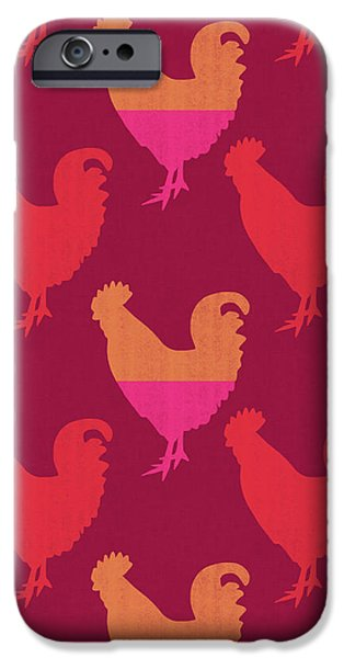 Colorful Roosters- Art By Linda Woods IPhone 6s Case by Linda Woods
